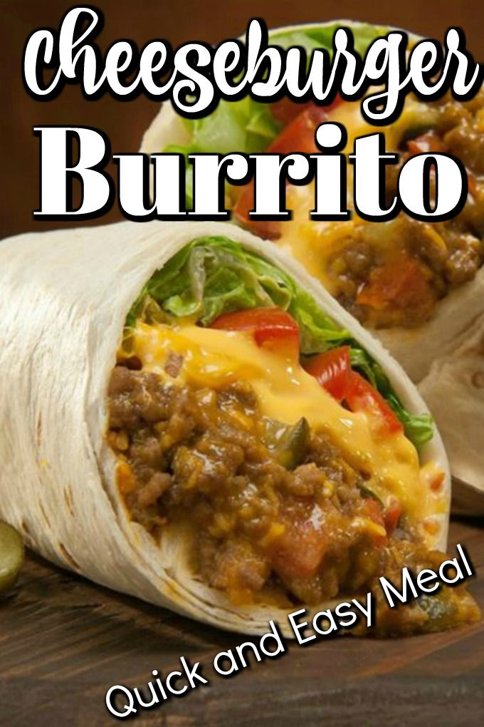 Cheeseburger Buritto