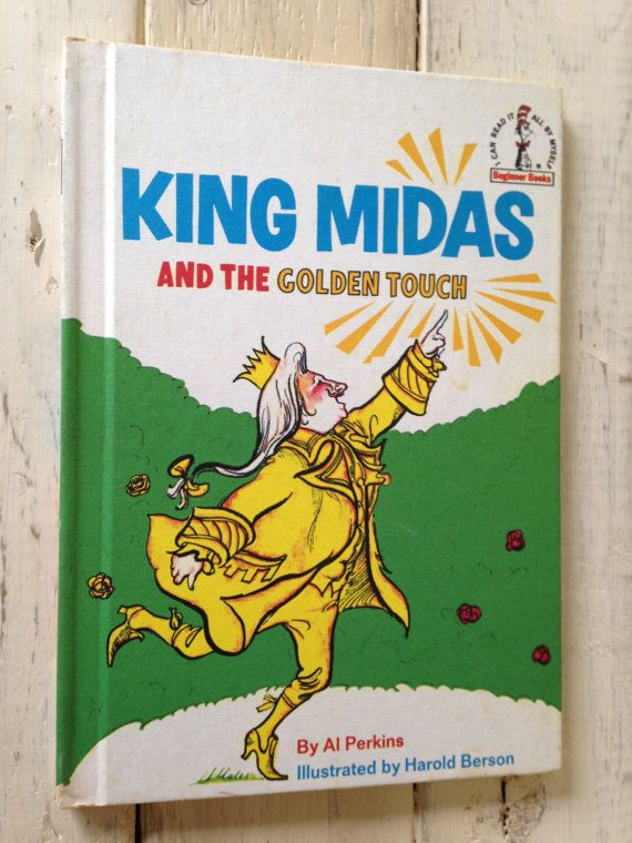 VINTAGE KIDS BOOK- King Midas and The golden Touch- Beginner Books - best of coloring pages of king midas