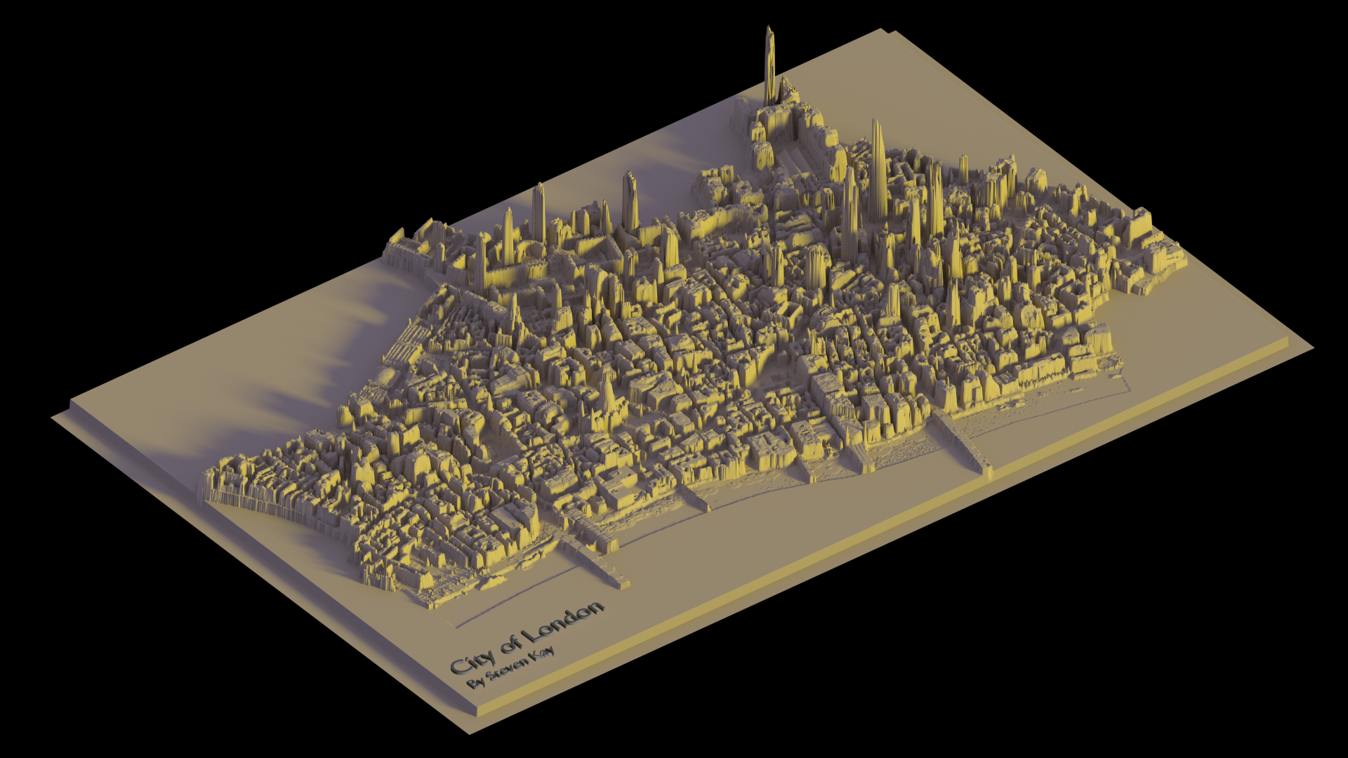 The City of London modelled in Blender Using the newly released