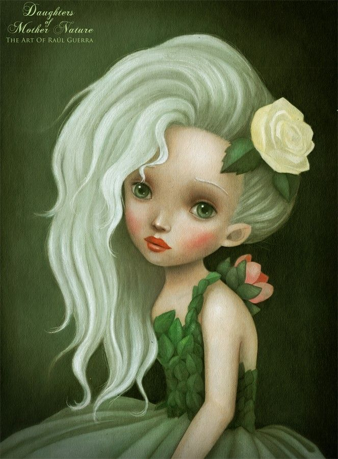 """""""DAUGHTERS OF MOTHER NATURE"""" by The Art of Raul Guerra 23 X 31.7 Acrylics and pencils on illustration board."""