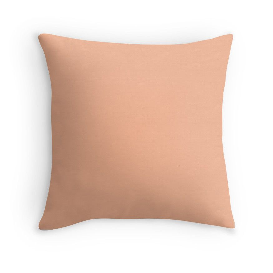 Peach Orange Solid Color Throw Pillow By Patternplaten Products