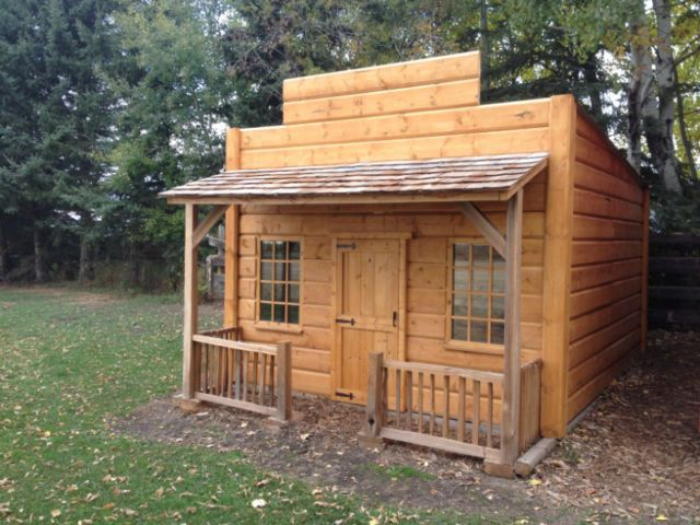 Garden shed kids playhouse western cabin pinterest patio for Outdoor furniture kijiji