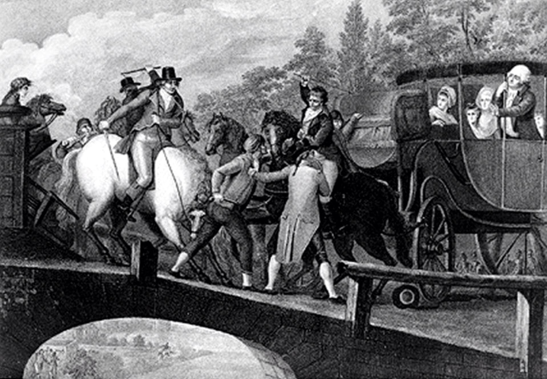 La frustrada fuga de los Reyes,que son detenidos en Varennes