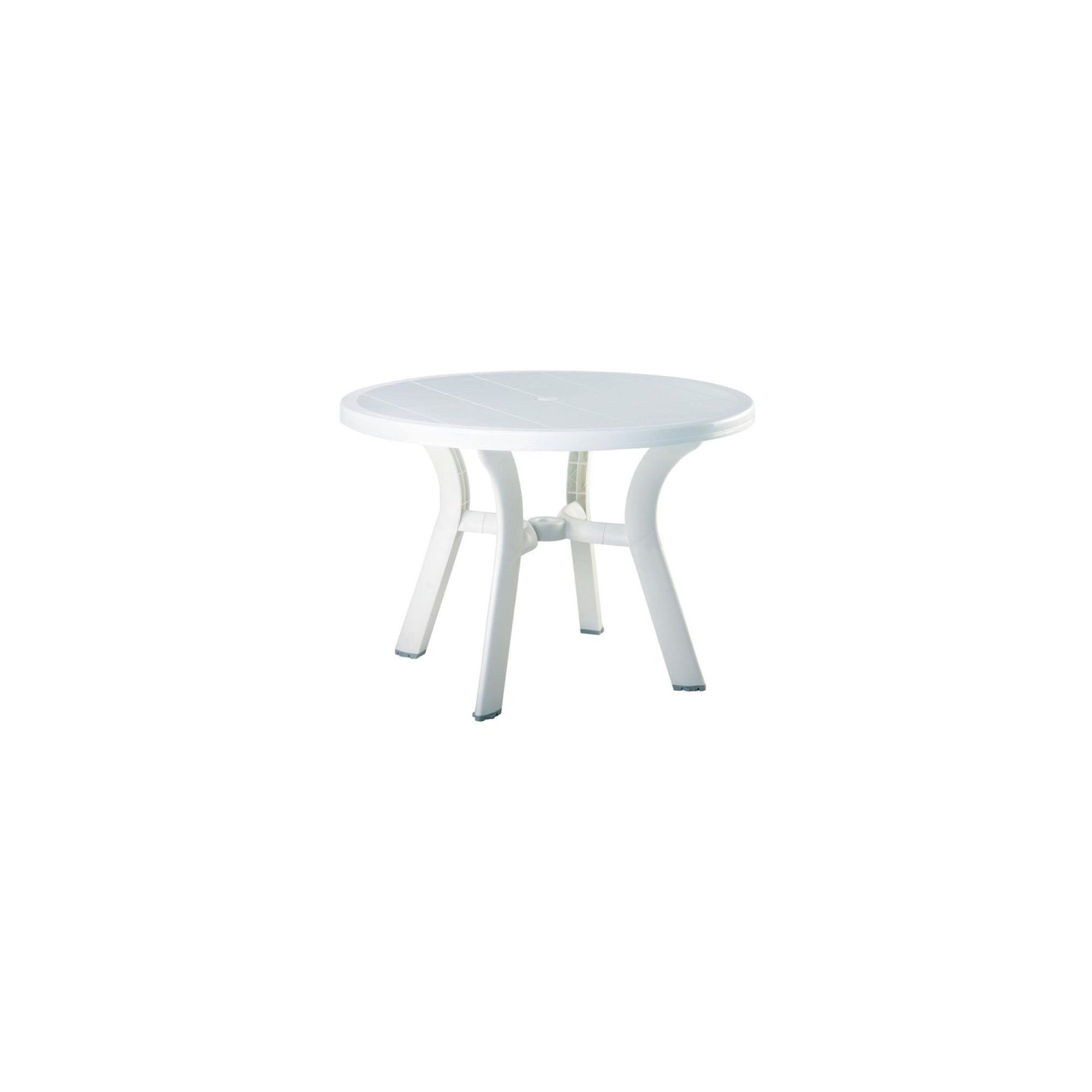 Round Resin Patio Dining Table