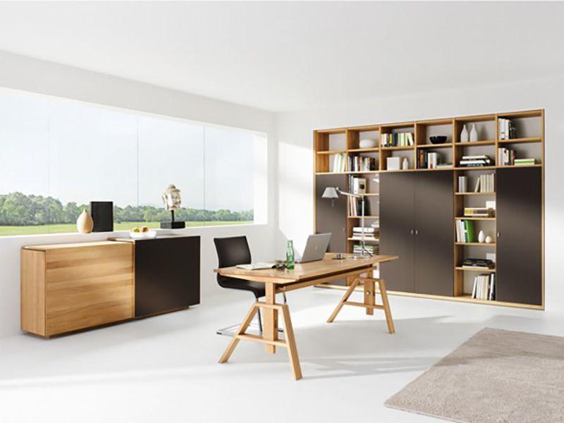 Design Arbeitszimmer ~ Home office wohnliches arbeitszimmer massivholz bei möbel