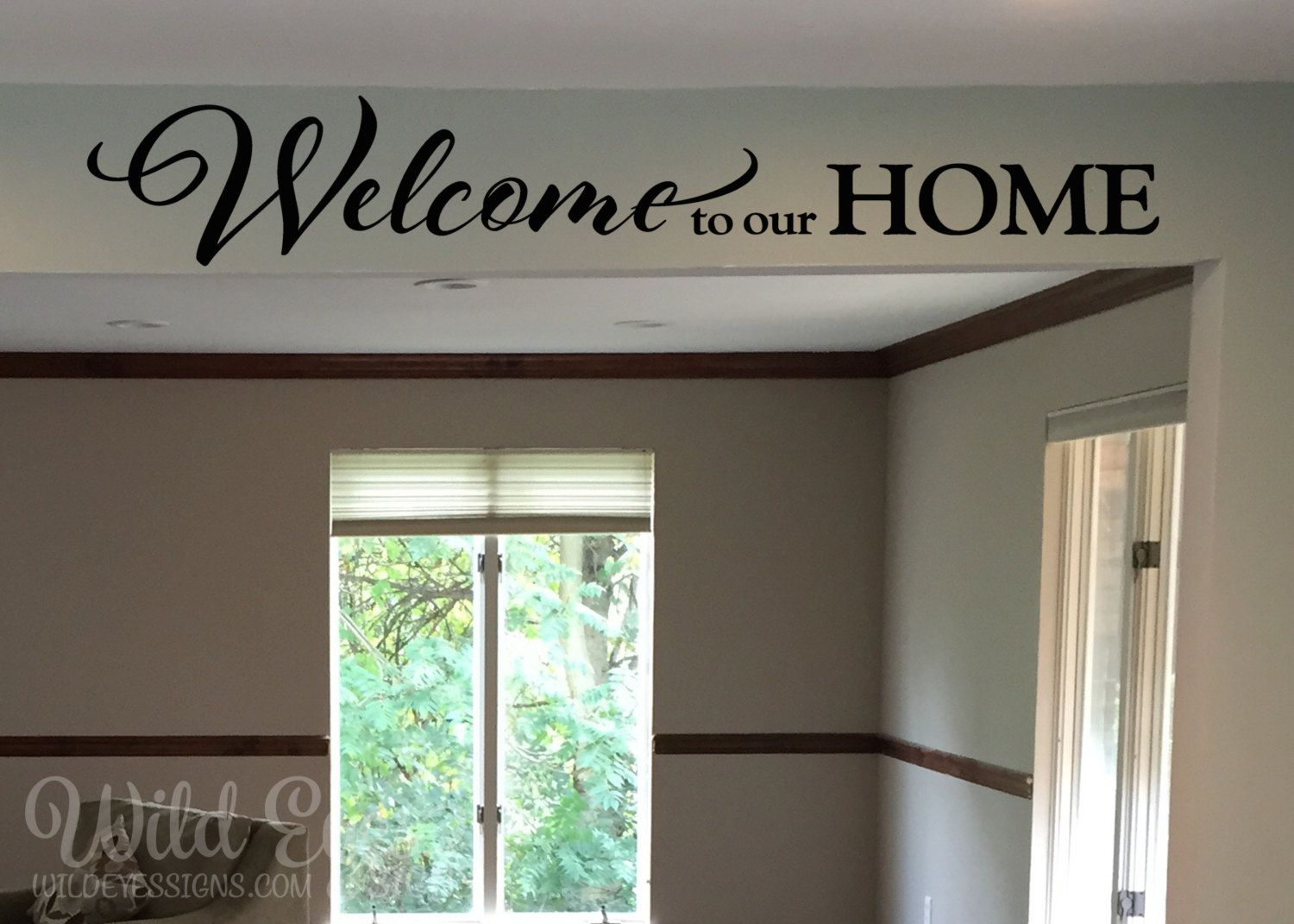 Welcome to our home, Entrance sign, wall decal Foyer ...