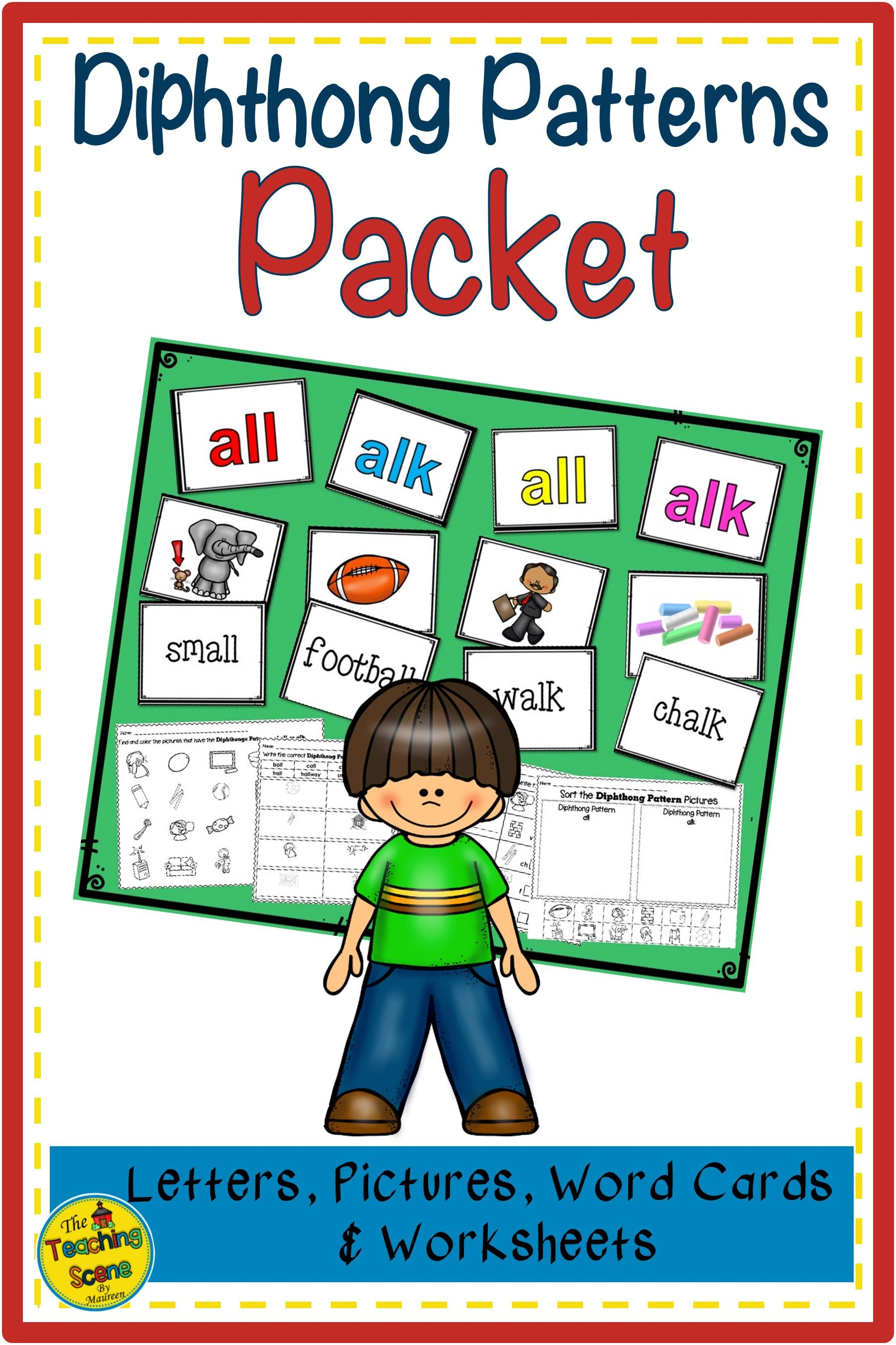 Diphthong Patterns All Amp Alk Packet Letters Pictures