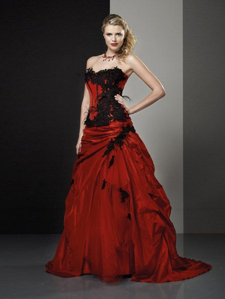 Robe mariee rouge | Robe mariée rouge, Robe