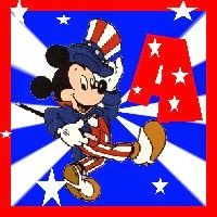 Alfabeto de Mickey Mouse para el 4 de julio.