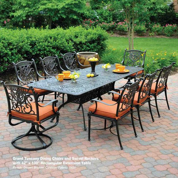 Grand Tuscany Dining Patio Patio Furniture Dining Set Outdoor Porch Furniture