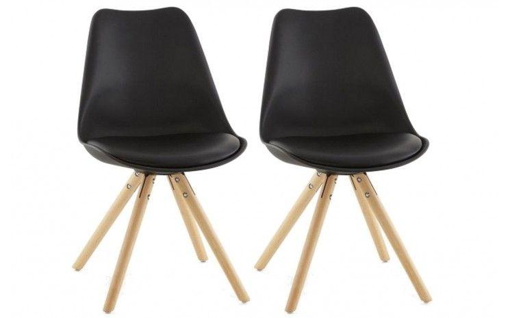 dinspiration scandinave la chaise matt allie pieds en bois et assise de couleur vive pour un effet rsolument rtro son rembourrage discret permet un - Chaise Scandinave Rembourree