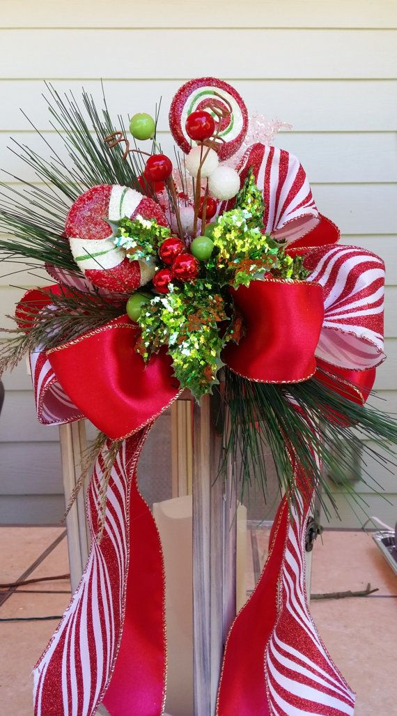 Big Candy Cane Decorations Bright Colorful And Fun Traditional Glittered Candy Cane