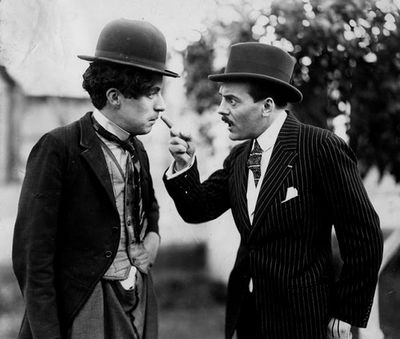 Charlie Chaplin and fellow comedienne, and influence, Max Linder