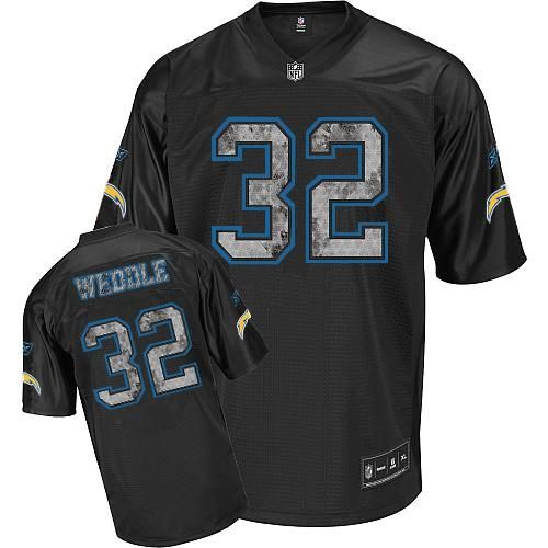 Reebok San Diego Chargers Eric Weddle 32 Black Authentic Jerseys Sale