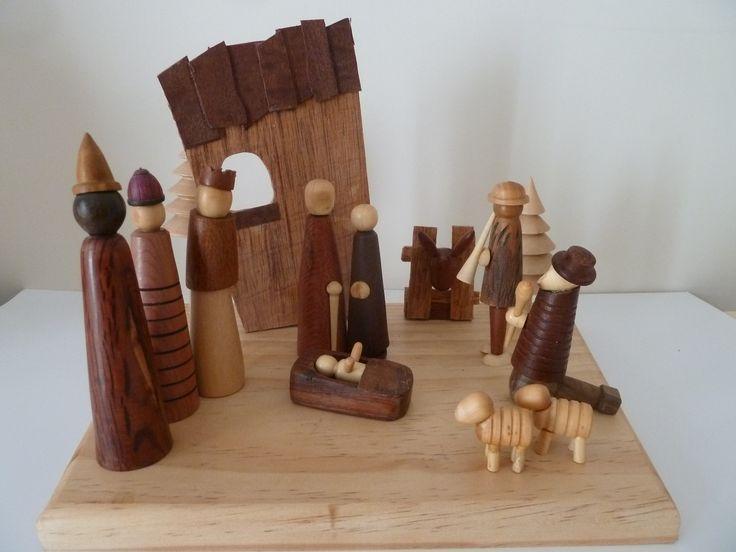 16x Neutrale Kerstdecoraties : Turned nativity woodworking pinterest christmas nativity wood