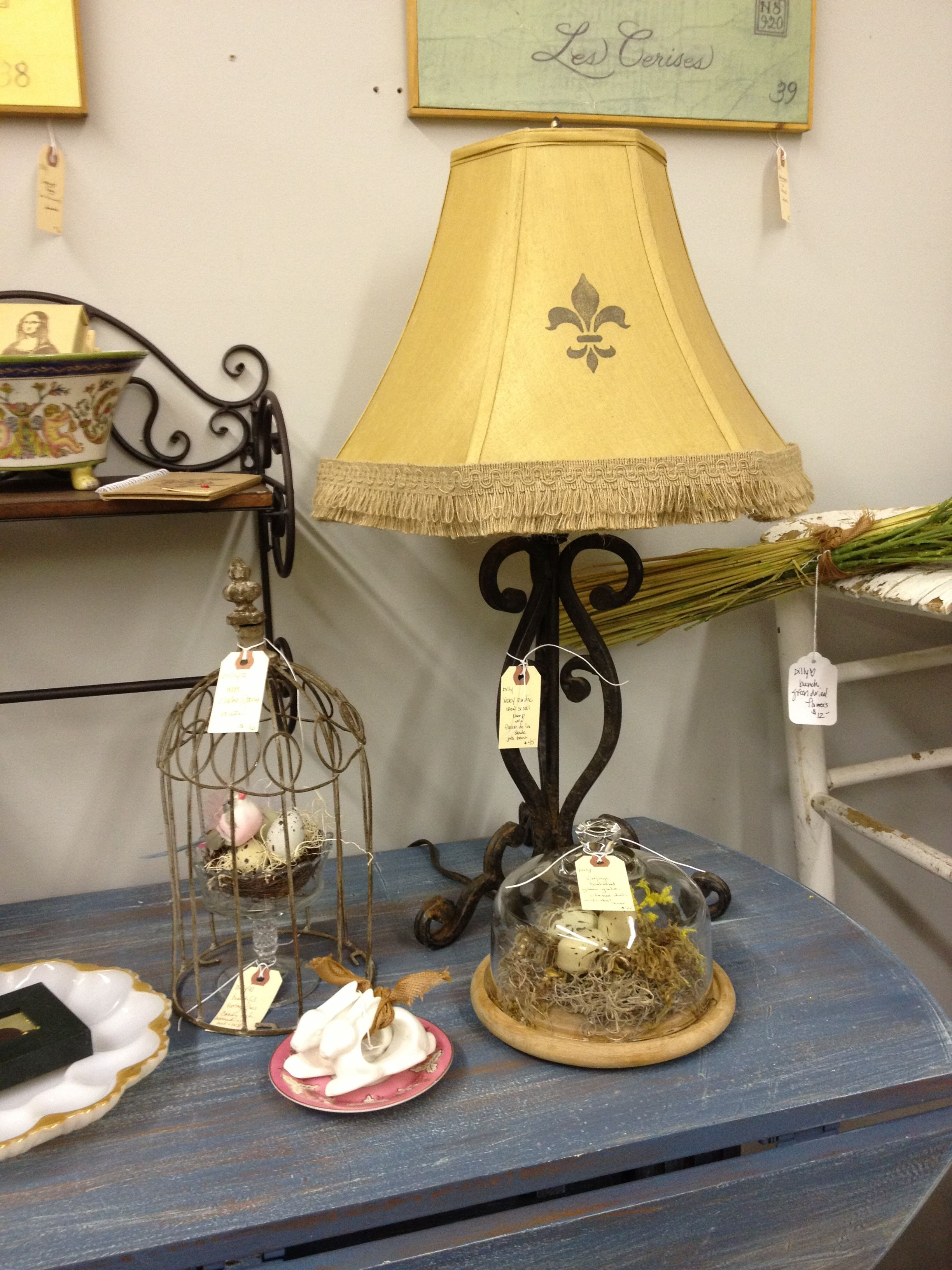 shop gold fleur lis fragment flambeau on lamp gift home table cross de decor online img product