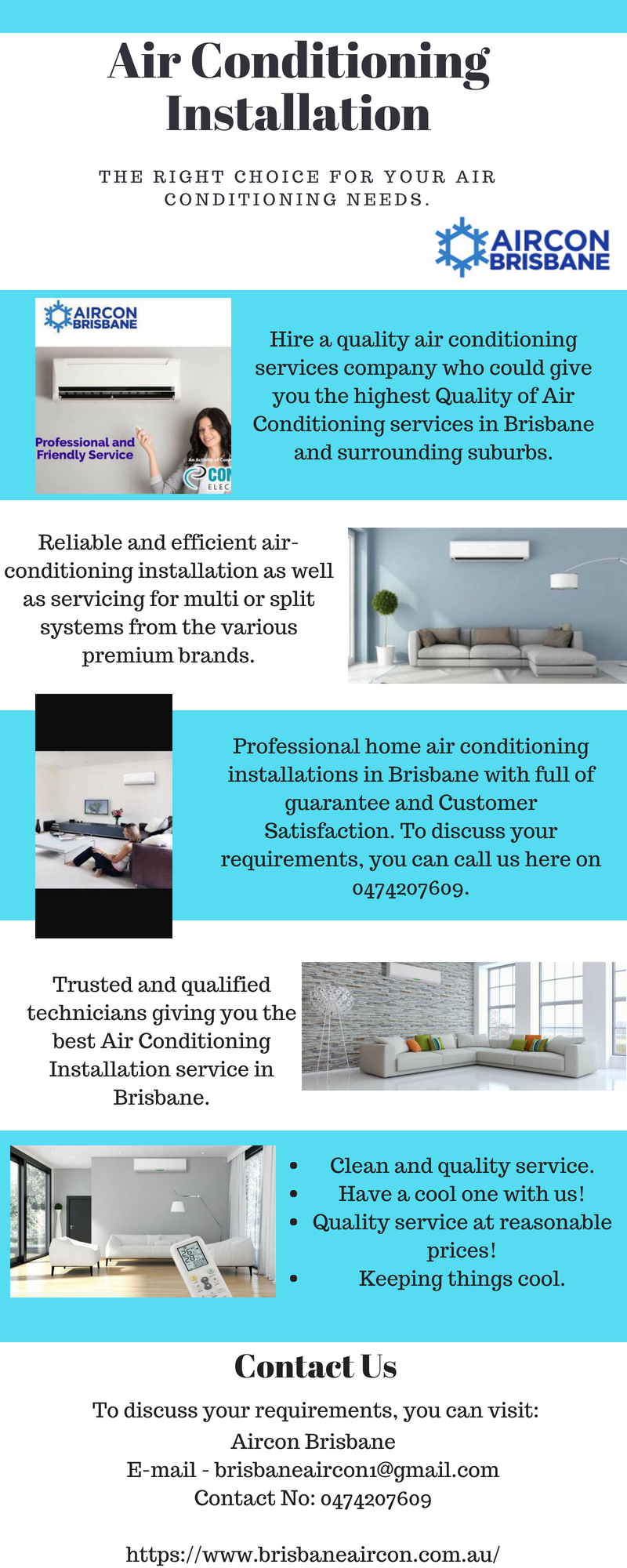 Aircon Brisbane is experts in AirConditioningInstallation