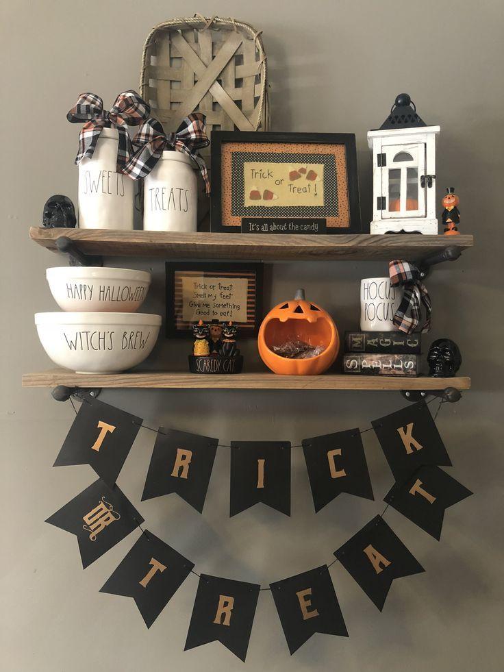 My Rae Dunn Farmhouse Halloween Display Farmhouse