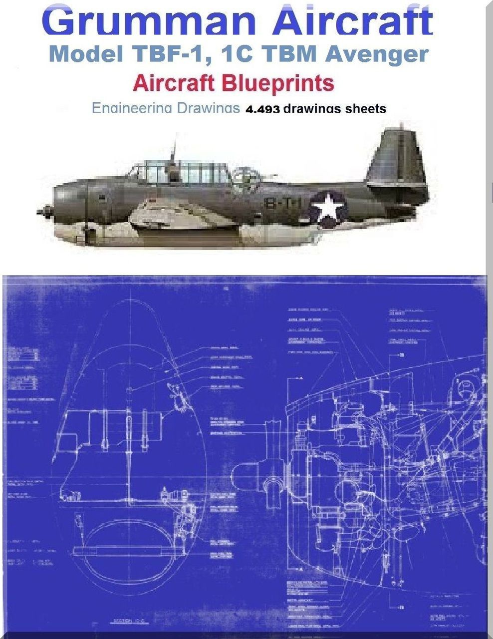 Grumman TBF-1, 1C TBM Avenger Aircraft Blueprints Engineering Drawings -  DVDs - Aircraft Reports - Aircraft Helicopter Engines Propellers Manuals  Blueprints ...