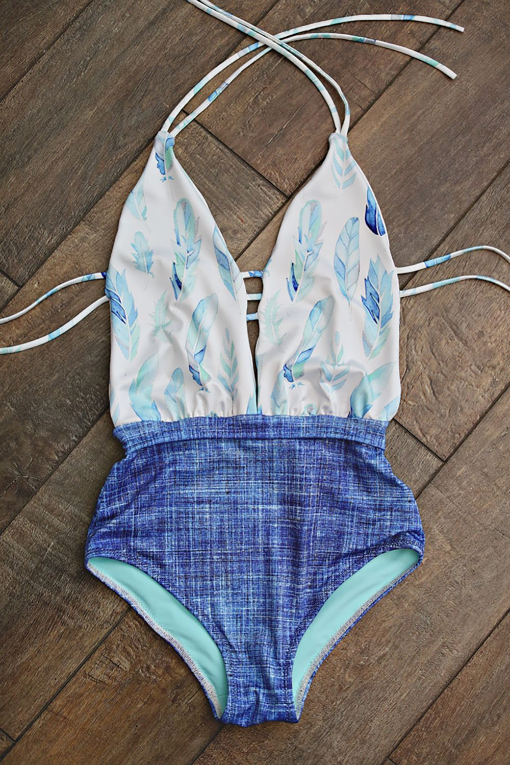 Custom Printed Swimsuit Made With Spoonflowers Sport Lycra Keep