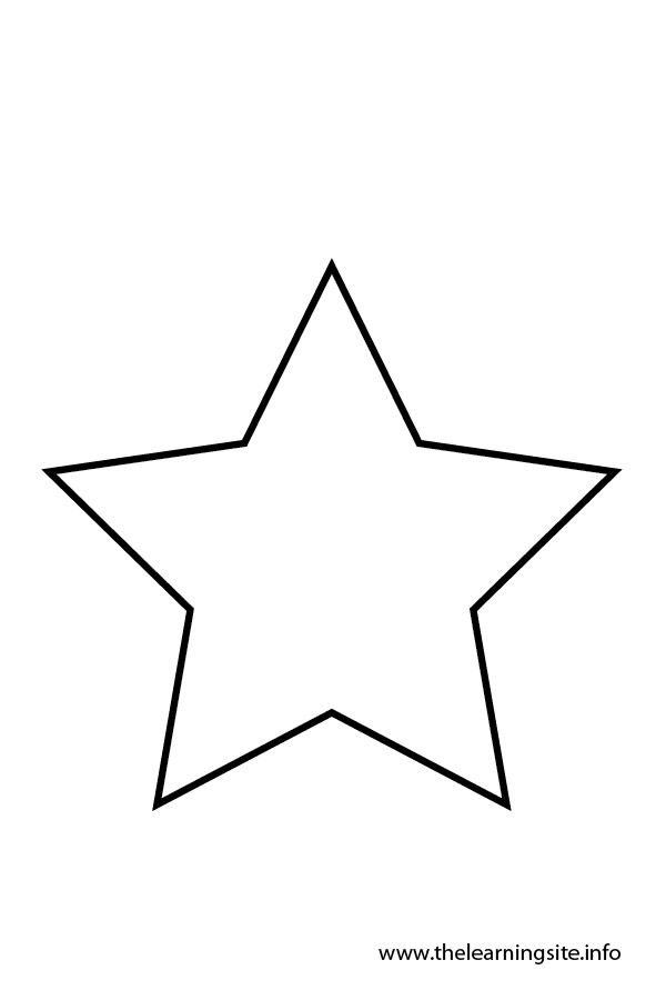 Star Shapes Clip Art Black And White Clipart