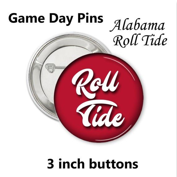 Game Day Pin Alabama theme _ Roll Tide fun font | Alabama ...