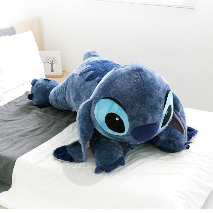 Flounder Stuffed Animal, Disney Stitch 47 Plush Doll Big Size Lying Toy Lilo And Stitch Disney Stitch Lilo And Stich Travesseiros Fofos