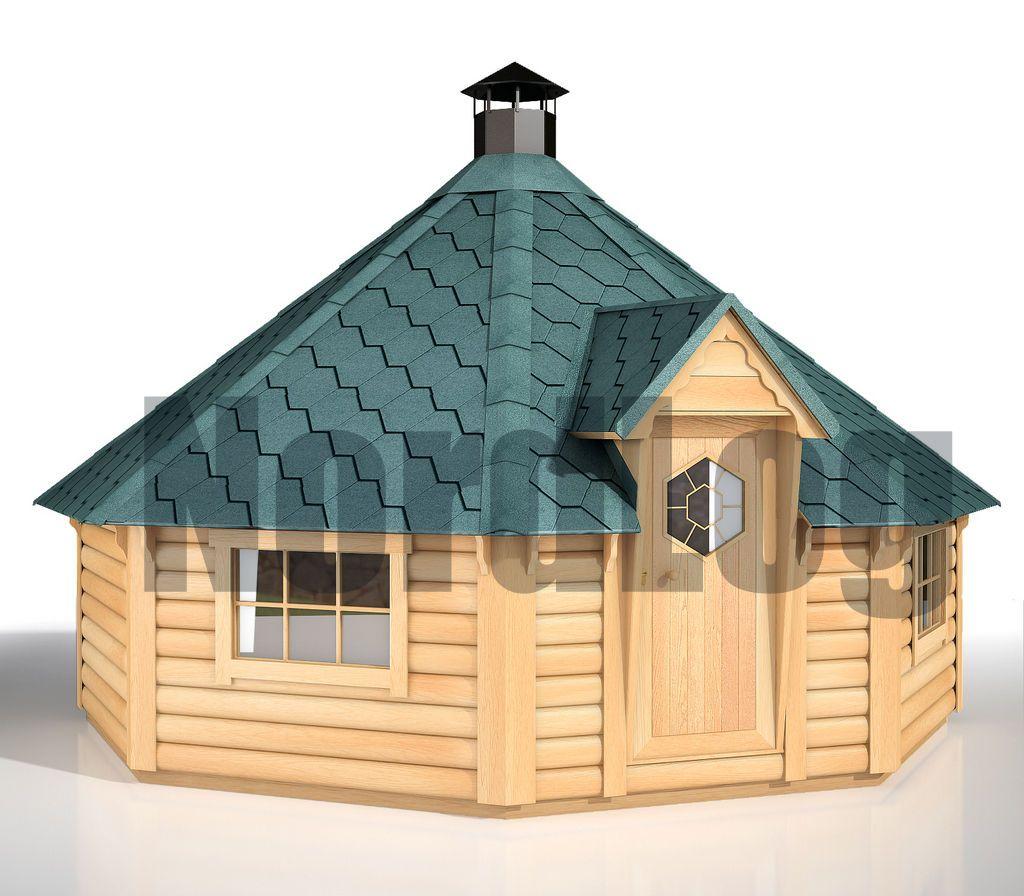nordlog grillkota 14,9 grillhaus grillhütte feuerstelle pavillon