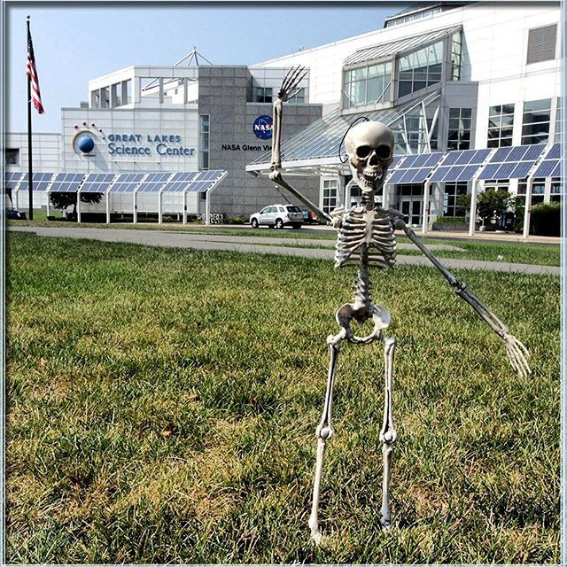 Looks like our The Skeleton in the Closet made its way to the Great Lakes Science Center! Maybe looking to donate its body to science?  Follow us for fun ideas, and please share your own with the hashtag #AHalloweenTradition! & don't forget to help name our skeleton by using #NameOurSkeleton! We've got a great prize for our favorite!  #theskeletoninthecloset #AHalloweenTradition #SkeletonintheCloset #trickortreat #HappyHalloween #HalloweenCountdown