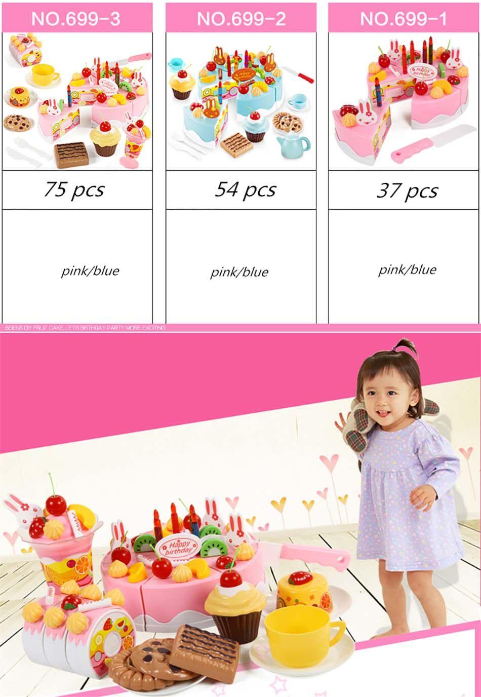 Birthday toys images  Beiens Brand Toys DIY Toys Pcs Pretend Play Cutting Birthday