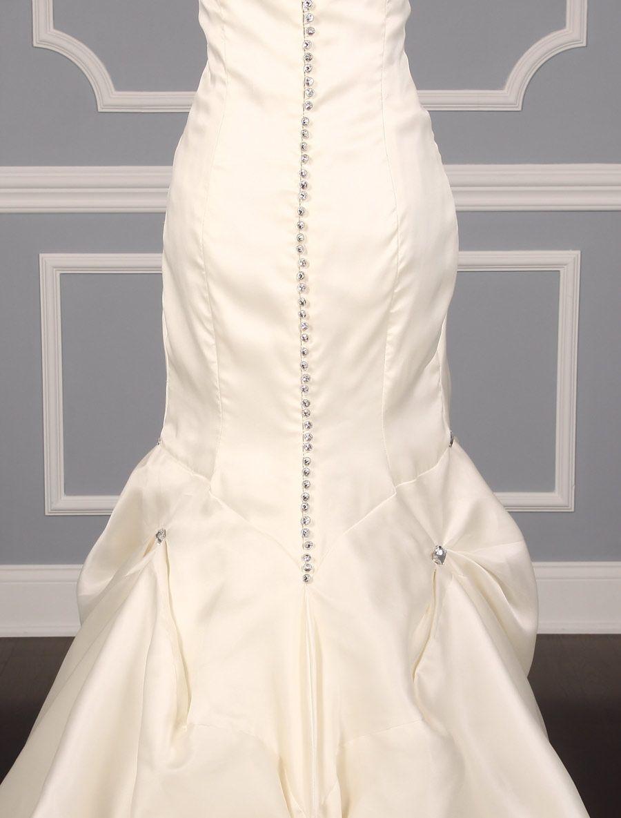 Add swarovski crystals wedding dress