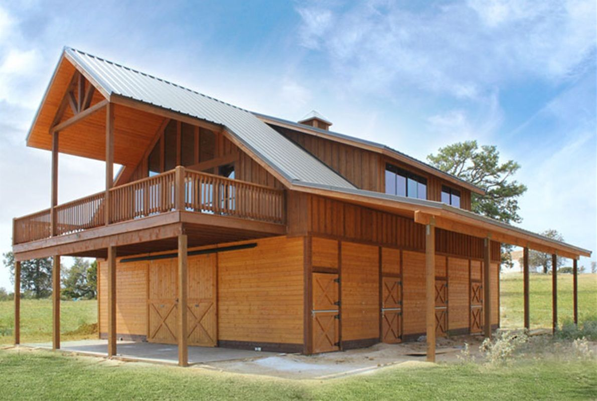 Horse barn with loft apartment the denali barn apartment 24 barn apartment pinterest - Garage house kits property ...