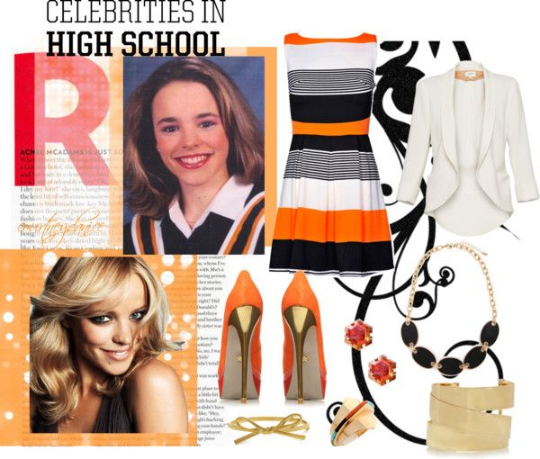 """""""Then & Now: Rachel McAdams"""" by courtneydanice ❤ liked on Polyvore"""