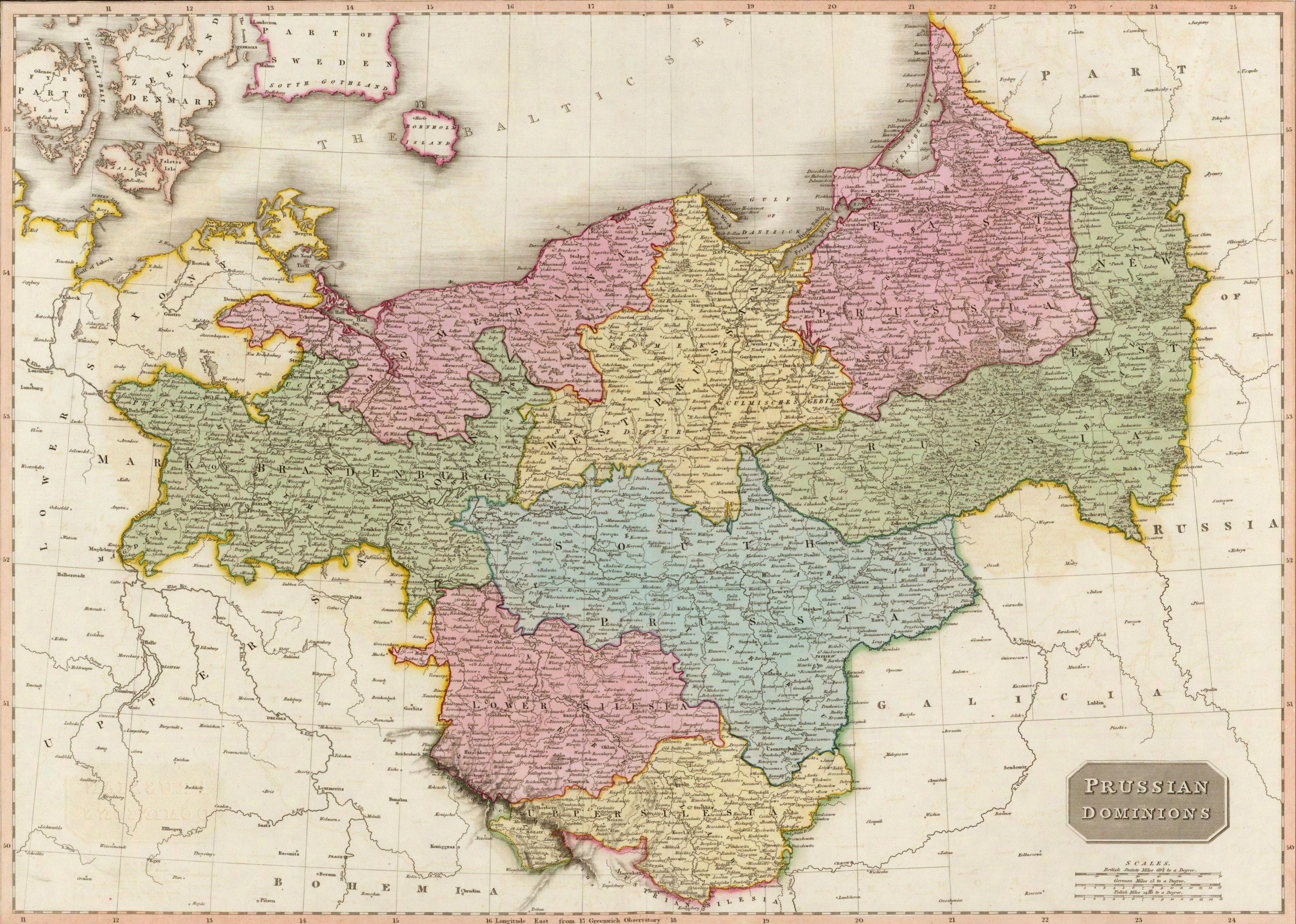 Landkarte Preußen An Map Of Prussia Tags - Map of us 1806
