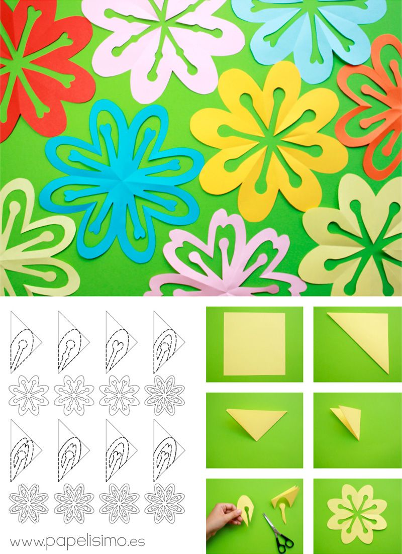 Como-hacer-flores-recortando-papel-kirigami-paper-flower ...