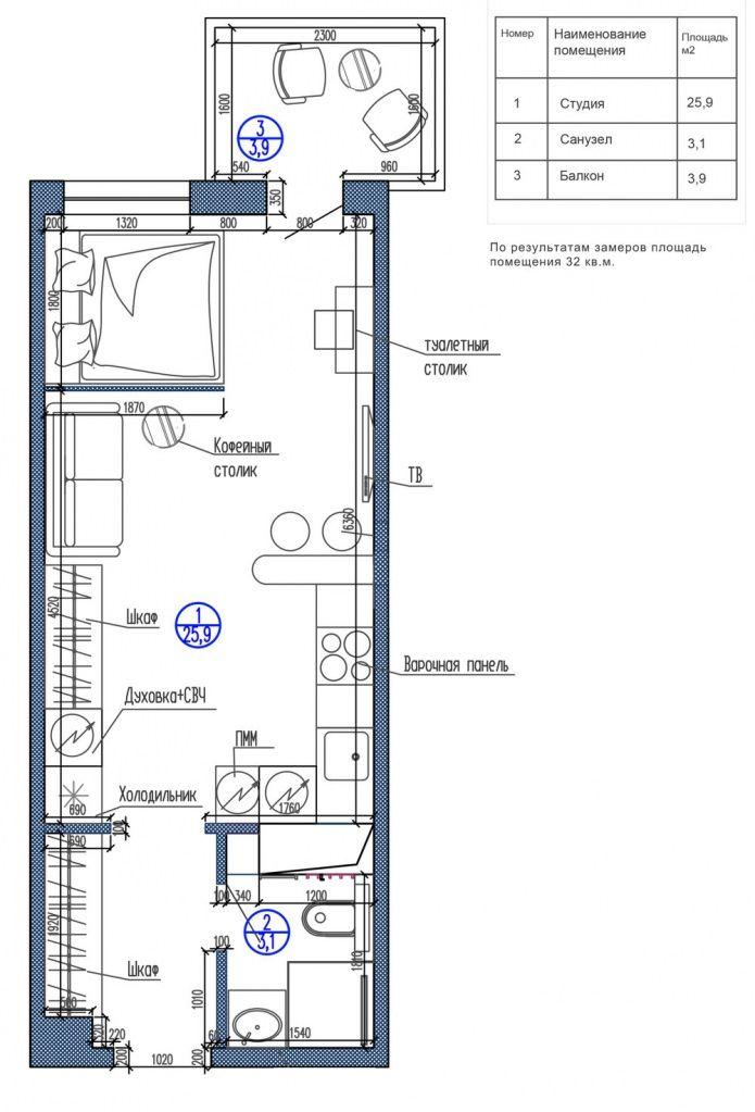 Планировка прямоугольной студии с одним окном планировка Pinterest