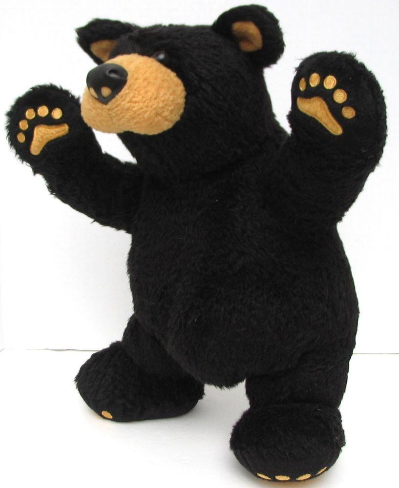 Bearfoots Bears Plush Black Bear Jeff Fleming Jointed Teddy Big Sky