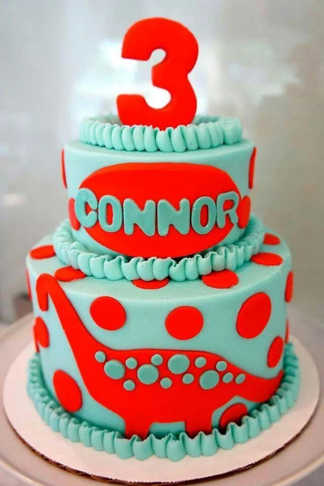 Dinosaur blue and red cake 2nd birthday Pinterest Cake