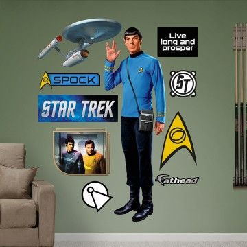 Put your passion on display with a giant Spock Fathead wall decal!  sc 1 st  Pinterest & Spock Wall Cling | Trek Home | Pinterest | Wall clings Star trek ...