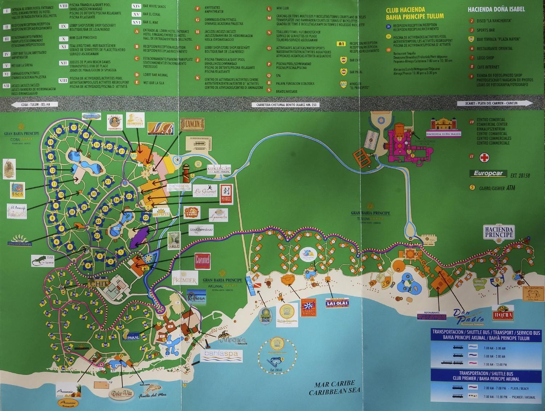 Bahia Principe Mayan Riviera Mexico Site Map Beautiful