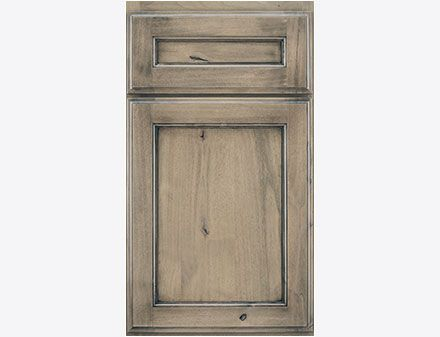 French Villa Square Crystal Cabinets Signature Aged Cedar With Black Highlight On Knotty Alder