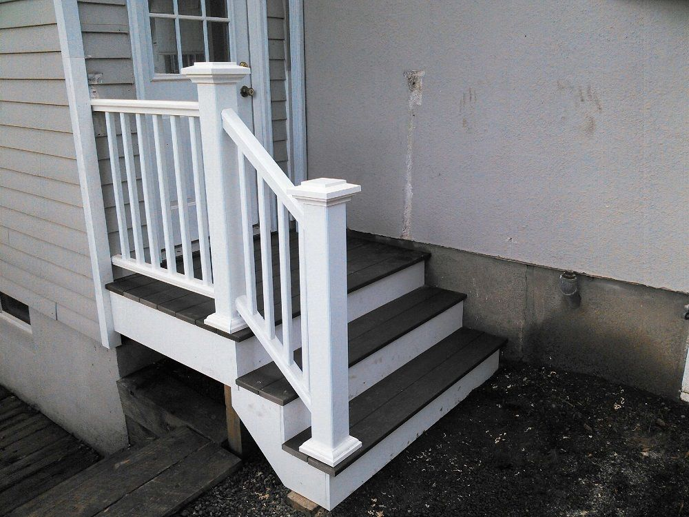 Outdoor Small Wood Stair Treads — Somewhere Home Decor | Handrails For Concrete Steps Lowes | Aluminum | Fiberglass | House | Simple | 1 Step