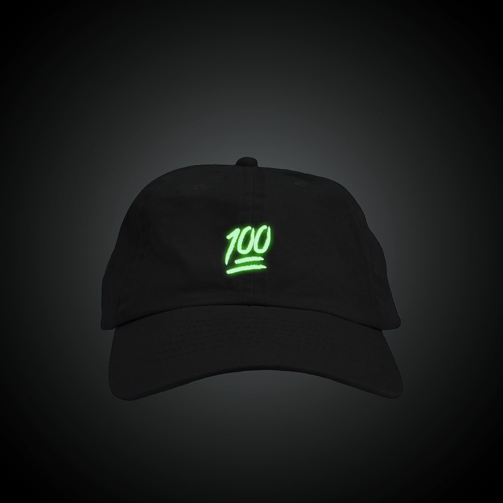 7b52e859a53 Glow in the Dark Keep It 100 Dad Hat | Dad Hats | Dad hats, Hats ...