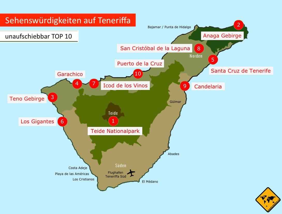 Teneriffa Sehenswurdigkeiten Top 10 Mit Karte Reisetipps