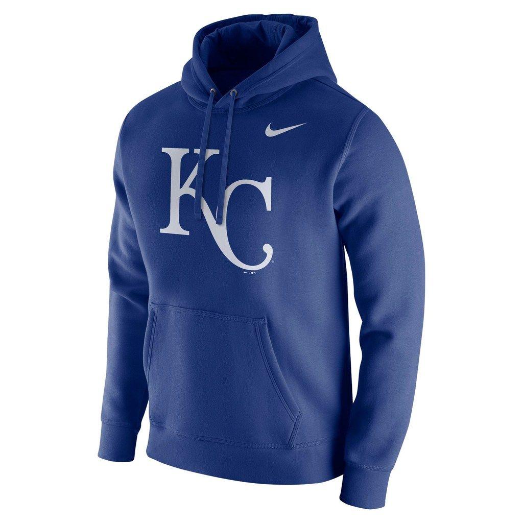 best cheap 3b093 45062 Men s Nike Kansas City Royals Wordmark Hoodie, Size  Medium, Blue