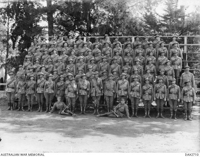 Negative - Members of the Light Horse Brigade in Camp