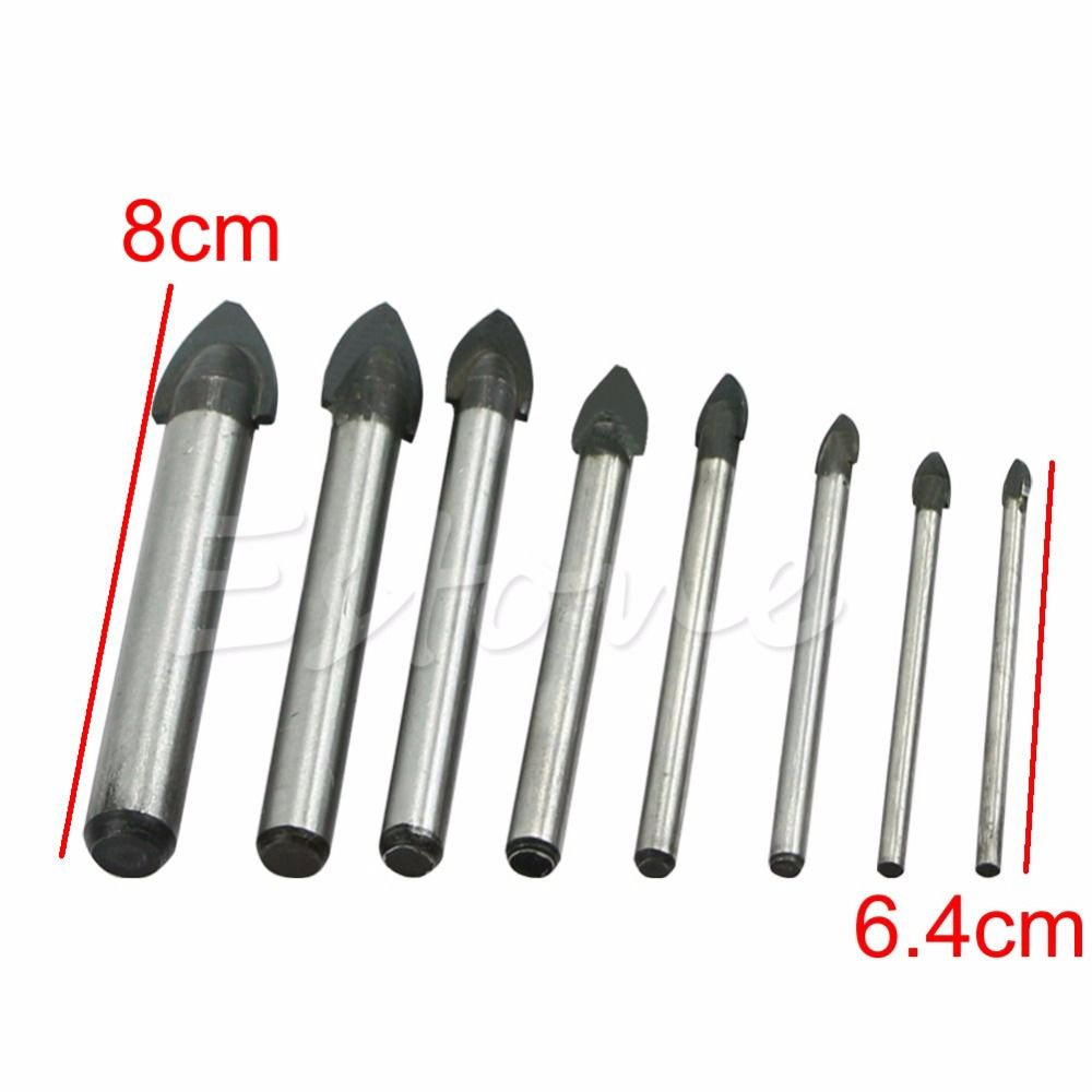 $0.90 (Buy here: http://appdeal.ru/643c ) 3/4/5/6/8/10/12/14mm Porcelain Spear Head Tile Glass Ceramic Marble Drill Bits for just $0.90