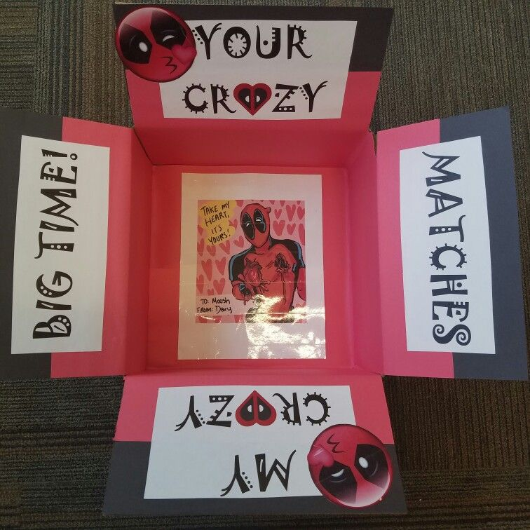 Deadpool Themed Valentine Care Package For My Marine