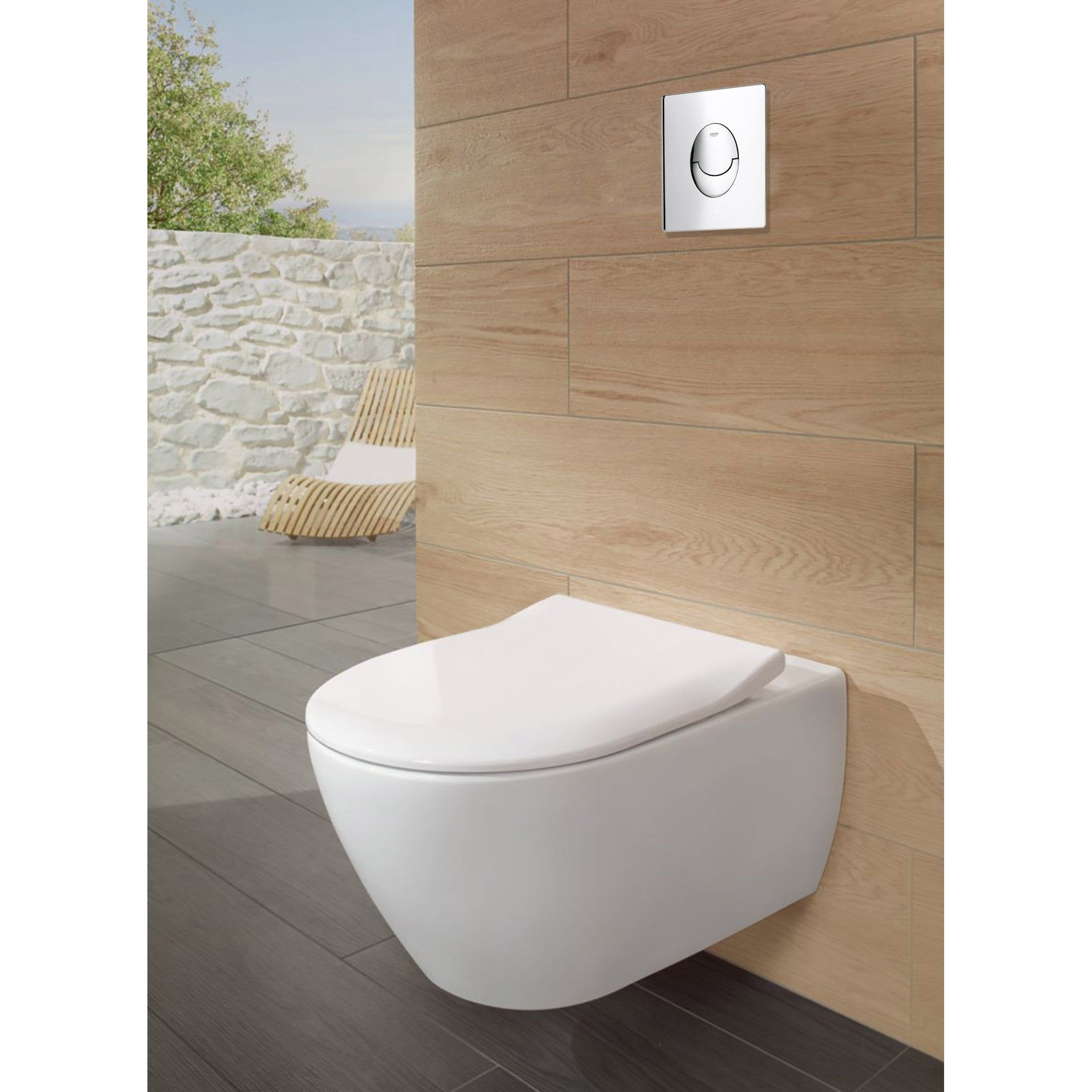 Pack Wc Suspendu Bati Sol Double Rapid Sl Et Subway Chr Grohe Villeroy Boch Pack Wc Suspendu Wc Suspendu Et Pack Wc