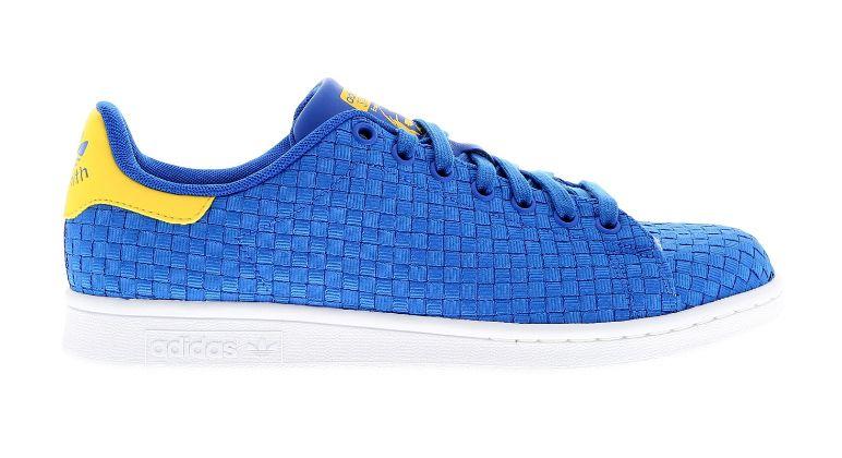 adidas stan smith college di tessuti marina / giallo / bianco piede